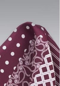 Krawatte mit Leinen in keramikrot
