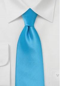 Businesskrawatte schmal ultramarinblau Leinen