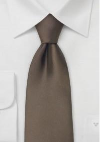 Einfarbige Krawatte mit Rippsstruktur in...