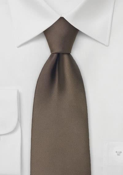 Einfarbige Krawatte mit Rippsstruktur in hellem