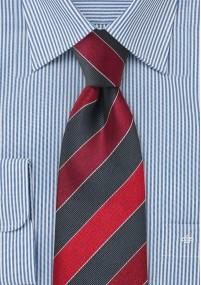 Einstecktuch Streifen Grau Schwarz