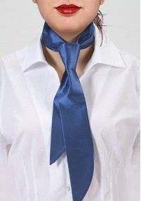 Herrenkrawatte Business-Streifen marineblau