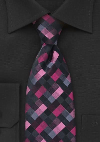 Krawatte Gräten dunkelrot