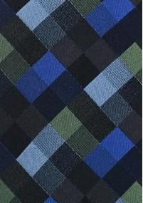 Krawatte Netz-Dekor rot eisblau