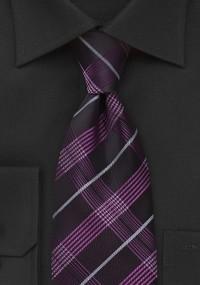 Krawatte schmal geformt Streifenmuster pink