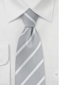 Kravatte Streifenstruktur tiefschwarz grau