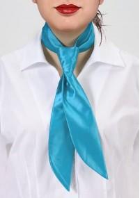 Krawatte für Damen orangerot monochrom