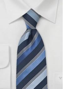 Gestreifte Krawatte cyan türkis