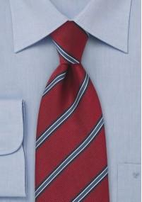 Schmale Krawatte Streifen Blautöne