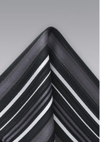 Einstecktuch Seide Paisley-Muster blau