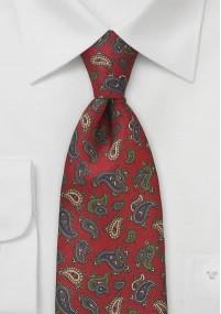 Kavaliertuch naturweißes Leinen roter Rand
