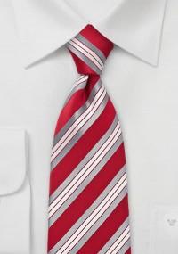 Krawatte aubergine mit schwarzen Streifen