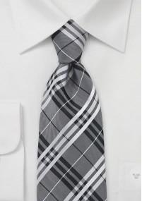 Lange Krawatte dunkelgrau Streifen rosa...