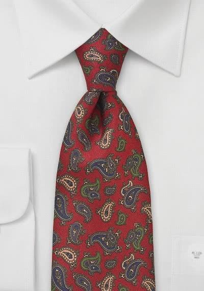 Herrenschleife stylisches Paisleymuster silbergrau