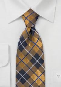 Ziertuch Streifen Leinen marineblau