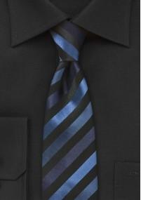 Krawatte Streifen hellblau aubergine