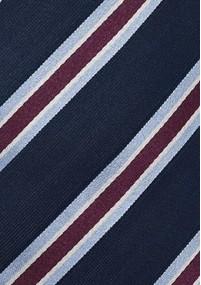 Krawatte Streifen silbergrau rot hellblau