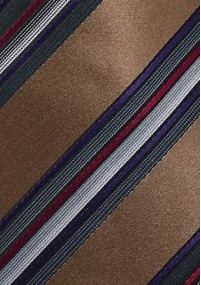 Krawatte kupfer-orange Glencheckdesign