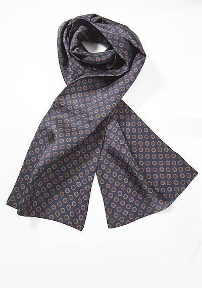 Herrenkrawatte Wolle Karo-Muster dunkelgrün