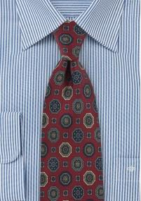 Krawatte Rosen-Muster navyblau