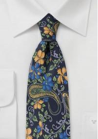 Kravatte kirschrot Paisleymotiv