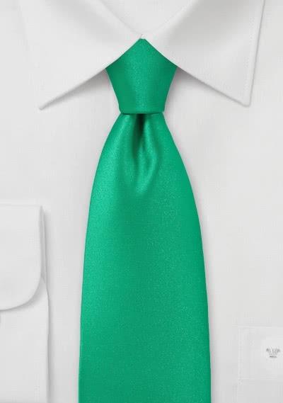 Markante Kravatte einfarbig gesprenkelt grasgrün