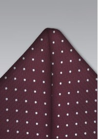 Clip-Krawatte gestreift mittelrot marineblau