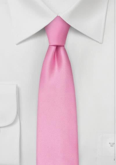 Stylische Krawatte rosé Mikrofaser