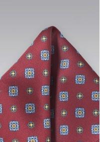 Krawatte große Blüten hellblau