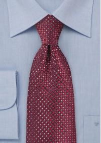 Krawatte Tupfen  pink  Baumwolle