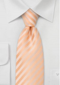 Apricotfarbene Mikrofaserkrawatte