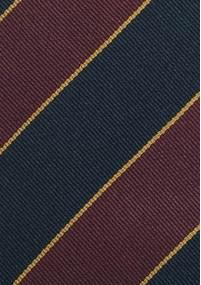 Krawatte schlank Baumwolle rostrot