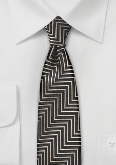 Stylische Krawatte Linienkaro apricot