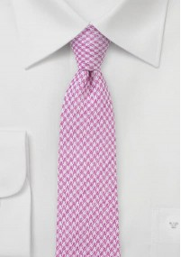Herrenkrawatte Wolle Glencheckdesign grau