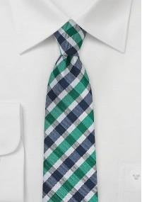 Schmale Krawatte rot-weiß gestreift