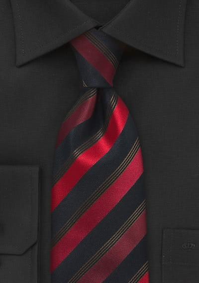 Karierte Krawatte navy hellblau