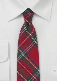 Krawatte Wolle grob texturiert...