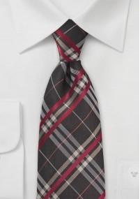 Herrenkrawatte strukturiert rot