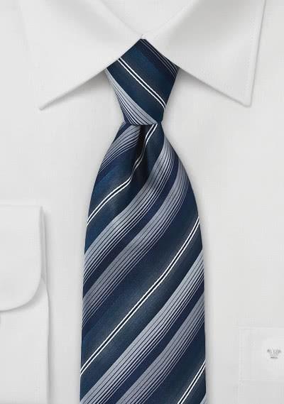 Kinder-Krawatte navyblau strukturiert