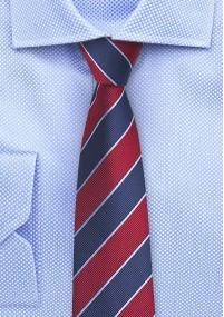 Schmale Krawatte navyblau strukturiert
