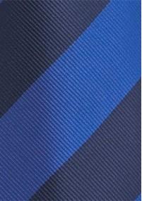 Businesskrawatte Streifenkaro blau perlweiß