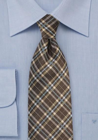 Einfarbige Krawatte Rippsstruktur Navy