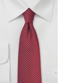 Krawatte Streifenmuster waagerecht dunkelrot