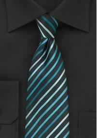 Krawatte Business-Streifen silbergrau...