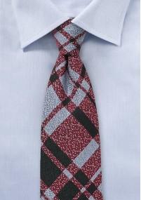 Kravatte einfarbig erdbeerfarben strukturiert