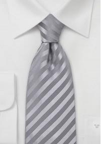 Krawatte mit Leinen gepunktet hellgrau