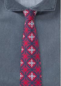 Herrenkrawatte Streifendesign Silber Navyblau