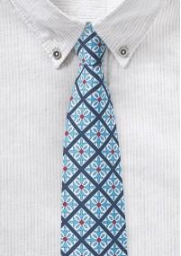 Krawatte Tupfen weinrot hellblau