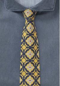 Seidenkrawatte XXL Streifen blau rot