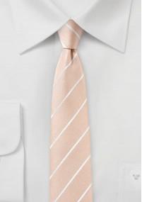 Krawatte monochrom strukturiert pastellgelb